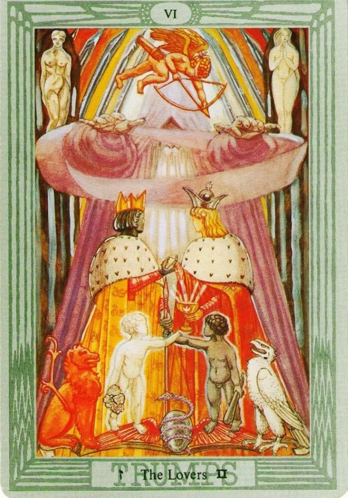 значение карты Влюбленные На распутье Выбор Перекресток Трое таро Тота