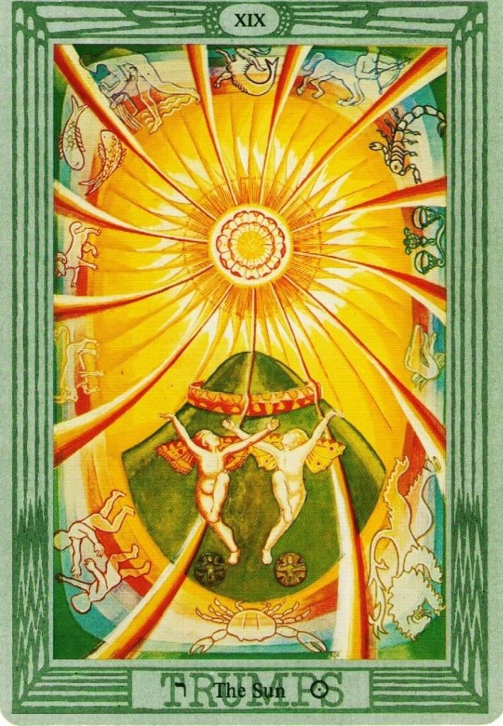 значение карты Солнце Благополучие таро Тота