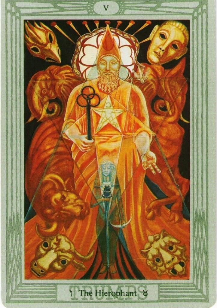 значение карты Иерофант Верховный жрец таро Тота