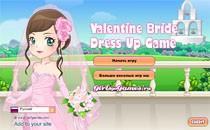 Играть онлайн Наряд невесты: день святого Валентина бесплатно