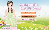 Играть онлайн Весенний свадебный наряд бесплатно