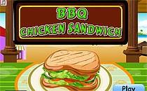 Играть онлайн Барбекю сендвич из курицы бесплатно