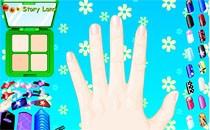 Играть онлайн Цветочный маникюр бесплатно