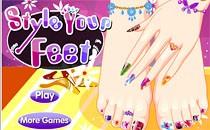Играть онлайн Укрась свои ступни бесплатно