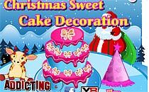 Играть онлайн Украшение рождественского сладкого пирога бесплатно