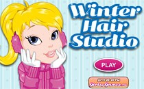 Играть онлайн Зимние прически бесплатно