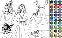 Играть онлайн Раскраска Принцесса 2 бесплатно