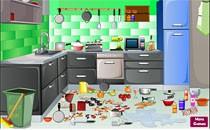 Играть онлайн Приберись у мамы на кухне бесплатно