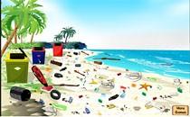 Играть онлайн Очистим пляж от мусора бесплатно