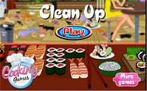 Играть онлайн Уборка в суши-баре бесплатно