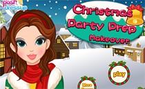Играть онлайн Макияж к рождественской вечеринке бесплатно
