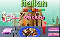 Играть онлайн Курица на сковородке по-итальянски бесплатно