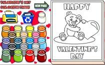 Играть онлайн Раскраски к Валентинову Дню бесплатно