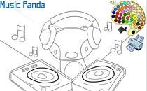 Играть онлайн Раскраска для музыкальной панды бесплатно