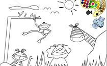 Играть онлайн Сафари раскраска бесплатно