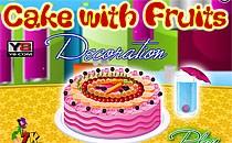 Играть онлайн Прикольный фруктовый торт бесплатно