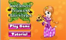 Играть онлайн Прически для подсолнечной принцессы бесплатно