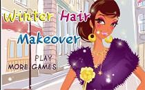 Играть онлайн Прически и макияж: зима бесплатно