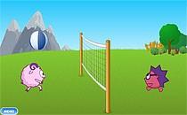 Играть онлайн Смешарики Волейбол бесплатно