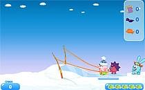 Играть онлайн Смешарики 2 - Нюша в звёздном небе бесплатно