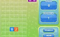 Играть онлайн Смешарики играют в тетрис бесплатно