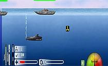 Играть онлайн Бой субмарины бесплатно