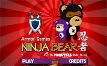 Играть онлайн Ниндзя-медведь бесплатно