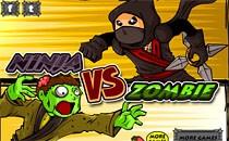 Играть онлайн Ниндзя против зомби бесплатно