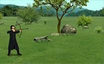 Играть онлайн Стрельба из лука по яблоку бесплатно