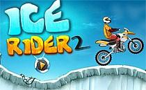 Играть онлайн Езда по льду 2 на мотоцикле бесплатно