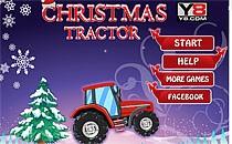 Играть онлайн Рождественские гонки на тракторе бесплатно