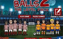 Играть онлайн Футбольные мячи 2 уровня бесплатно