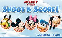 Играть онлайн Микки Маус играет в аэрохоккей бесплатно