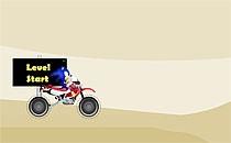 Играть онлайн Соник на мотоцикле в пустыне бесплатно