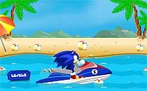Играть онлайн Соник на водном скутере бесплатно