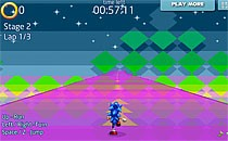 Играть онлайн Соник бежит за кольцами бесплатно