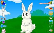 Играть онлайн Одеваем кролика бесплатно