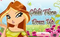 Играть онлайн Чиби Винкс: Флора бесплатно