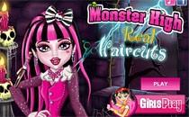 Играть онлайн Монстр Хай: стильная стрижка бесплатно