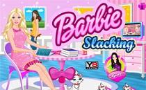 Играть онлайн Барби лентяйка бесплатно