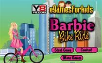 Играть онлайн Барби гонки на велосипеде бесплатно