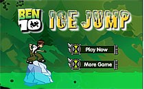 Играть онлайн Бен 10 прыгает по льдинам бесплатно
