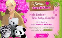 Играть онлайн Барби лечит животных бесплатно