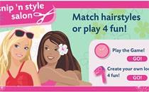 Играть онлайн Стилист Барби делает прическу бесплатно