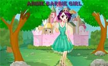 Играть онлайн Одеваем Барби аниме бесплатно
