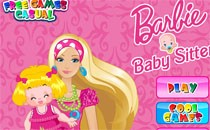 Играть онлайн Барби уход за детьми бесплатно