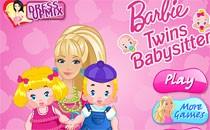 Играть онлайн Барби уход за малышами бесплатно