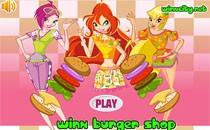 Играть онлайн Магазин гамбургеров Винкс бесплатно