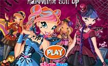 Играть онлайн Одевалка Винкс на Хэллоуин бесплатно