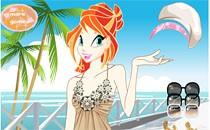 Играть онлайн Винкс на пляже бесплатно